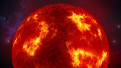 Sun in space loop Stock Video Footage