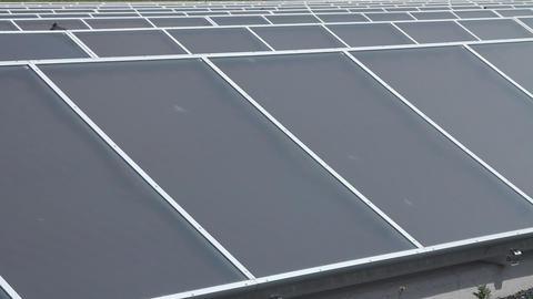 Solar panels power plant Stock Video Footage