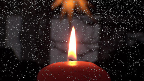 Weihnachten - Christmas - Advent - Candle Stock Video Footage