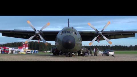 Transall C160 Bundeswehr 02 Stock Video Footage