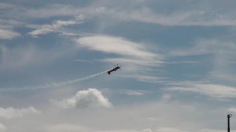 Footage Kunstflug Airshow 2012 03 Stock Video Footage