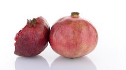 Half pomegranate fruit Footage
