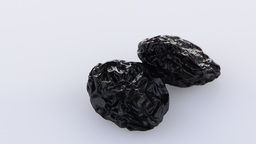 Dried plum fruits - prunes Stock Video Footage