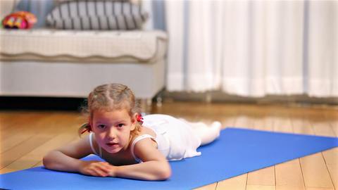 Ballerina. Little ballet children dancer Stock Video Footage