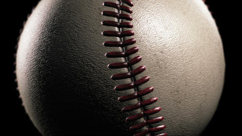 Baseball, Rotation on black background, loop Stock Video Footage