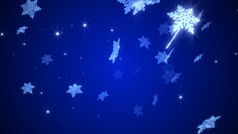 Snowy crystal Stock Video Footage