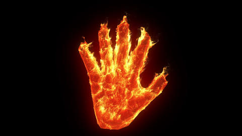Burning hand Animation