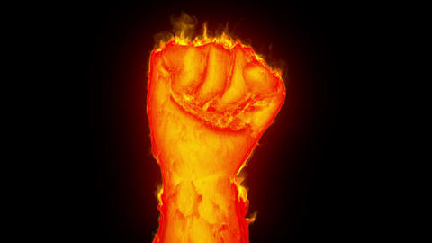 Fist on fire Animation