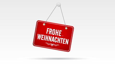 Frohe Weihnachten Laden Schild Stock Video Footage