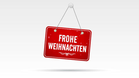 Frohe Weihnachten Laden Schild Animation
