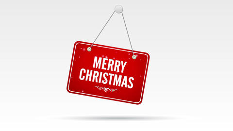 Merry Christmas Store Sign Stock Video Footage