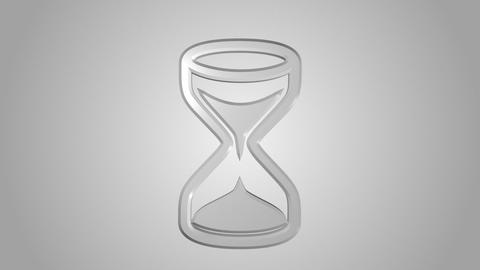 Hourglass icon animated Stock Video Footage