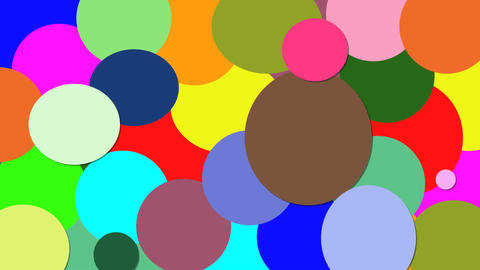 colored circles Stock Video Footage