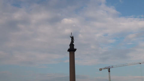 Alexander column on Palace square Footage