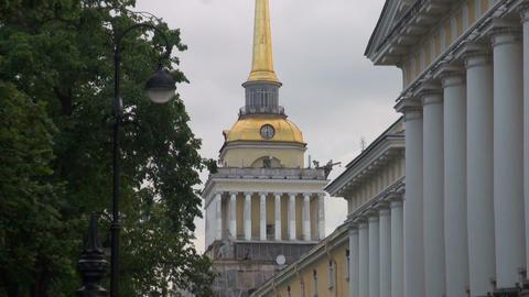 Admiralty Building in St Petersburg Footage