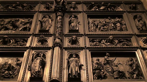The Door of st. Isaac's cathedral Stock Video Footage