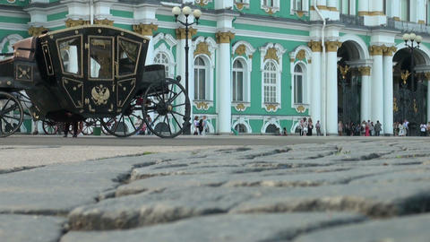 Palace Square in Petersburg Stock Video Footage