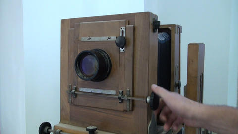The old camera Stock Video Footage