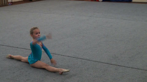 Rhythmic gymnastics training Stock Video Footage