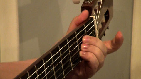 Guitarist playing Stock Video Footage