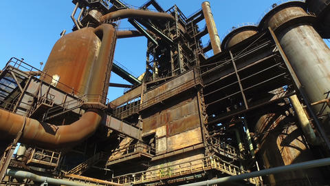 Blast Furnace At Old Metallurgical Plant Live Action