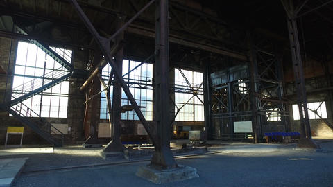Old Abandoned Metallurgical Plant Footage