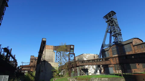 Coke Plant At Old Metallurgical Plant Footage