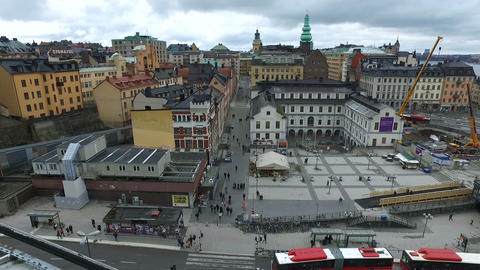 Stockholm Square From Katarina Elevator Footage