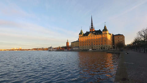 Stockholm Old Town City View, Sweden Footage