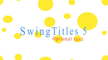 Swing titles After Effects Project