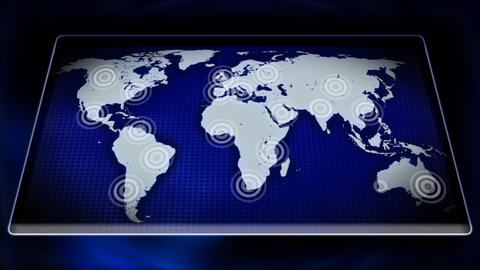 Animated Map Of The World stock footage