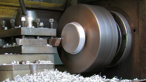 Production of a Detail on the Lathe Live Action