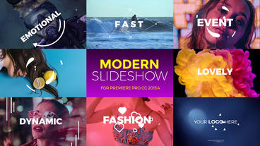 Modern Slideshow Premiere Pro Template