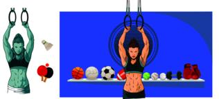 Sport Woman Workout Vector