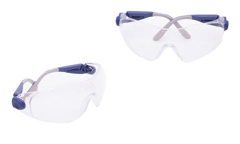 Protection glasses on white background isolated フォト