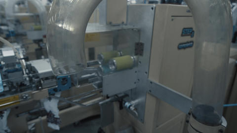 Machine sewing production Footage