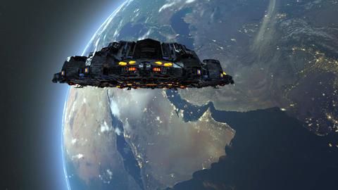 UFO Space ship Animation