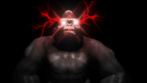 Eye Lightning Gorilla Full HD VJ Loop Animation