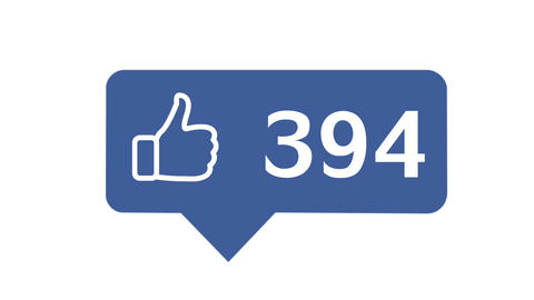"""""""Like button"""" with numbers on social network GIF"""