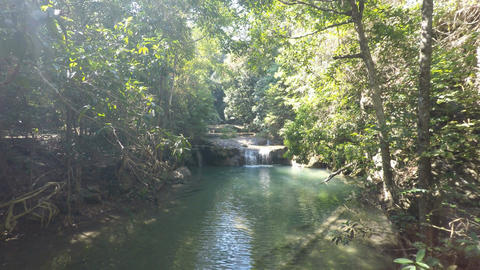 erawan nationalpark waterfall Footage