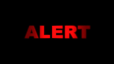 Red Alert Alarm Going On And Off stock footage