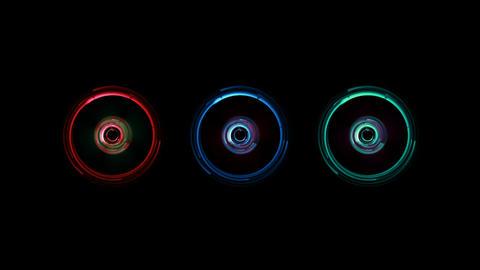 Robotic Digital Electronic Futuristic Lights stock footage