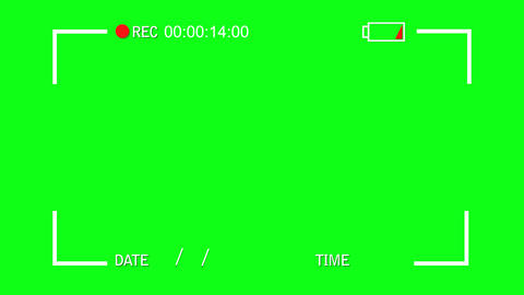 Simple Video Camera Display View on a Green Screen Background Footage