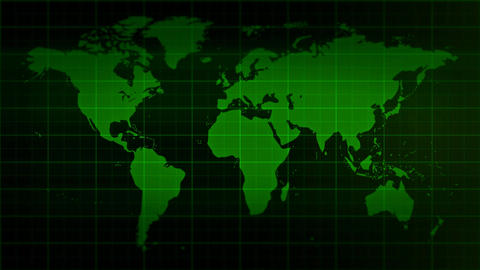 Blank Monitor With World Map Background stock footage