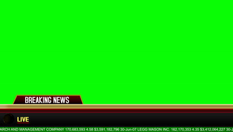 Breaking News Lower Third on a Green Screen Background Live Action