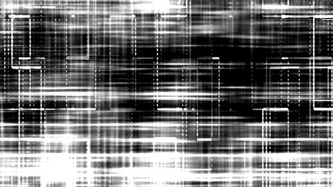 White Noise Grid On Black Background Animation