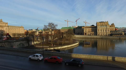 Parliament House,The Old Town In Stockholm stock footage