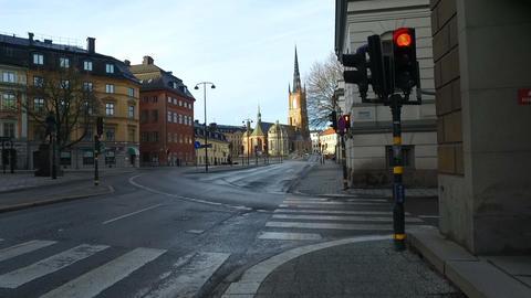 Riddarholm Church, One Of Oldest Building In Stockholm, Sweden stock footage