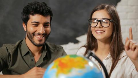 Couple Chooses Travel Destination Live Action