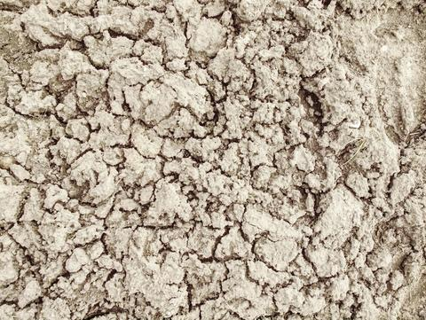 Global warming. Drought cracked desert landscape. Climate changes フォト